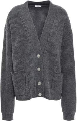 Claudie Pierlot Ribbed Wool-blend Cardigan