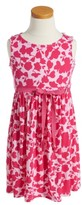 Oscar de la Renta Toddler Girl's Flower Silhouette Sundress