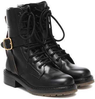 Chloé Leather combat boots