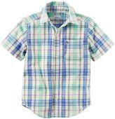 Carter's Boys 4-8 Plaid Button-Down Shirt