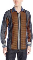Robert Graham Men's Taormina Long Sleeve Woven Shirt, Multi