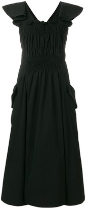 Carven gathered front fit and flare dress