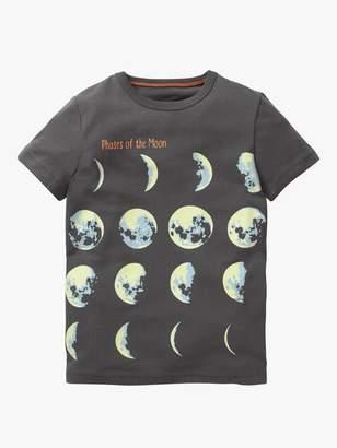Boden Mini Boys' Glow In The Dark Moon T-Shirt, Grey