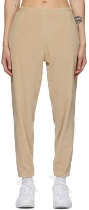 Gil Rodriguez Tan Velour Beachwood Lounge Pants