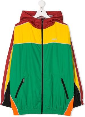 Molo Kids Colour-Blocked Hooded Track Jacket
