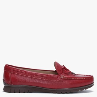Globo Ginny Red Leather Moccasins