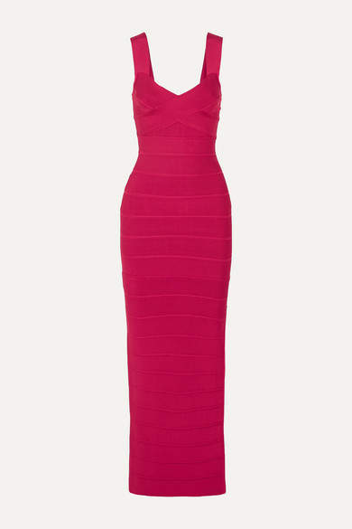 Herve Leger Bandage Gown - Red