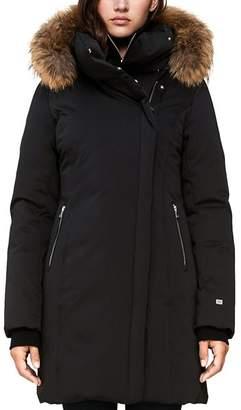 Soia & Kyo Alsina Fur Trim Asymmetric Front Down Coat - 100% Exclusive