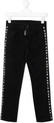 Gaelle Paris Kids Logo-Tape Jeans