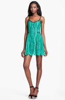 Nanette Lepore 'Carousel' Lace A-line Dress