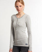 Superdry Twist Yarn Stripe Grandad Top