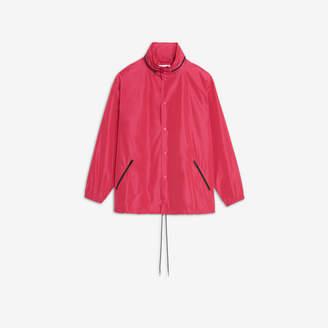 Balenciaga Hooded Windbreaker in pink technical micro faille