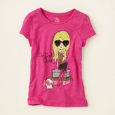 Children's Place Puff sleeve shine graphic tee