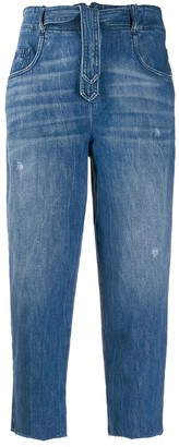 Pinko Cropped Faded Jeans
