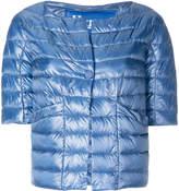 Herno collarless down jacket