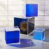 CB2 4-Piece Deep Blue Acrylic Storage Box Set