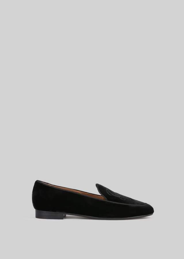 Giorgio Armani Velvet Loafers