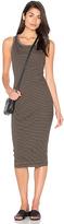 Sundry Stripes Rib Midi Dress