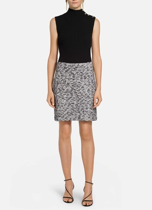 St. John Modern Statement Tweed Knit Skirt
