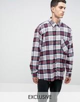 Reclaimed Vintage Inspired Oversized Plaid Shirt
