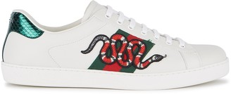 Gucci Ace snake-embroidered leather sneakers