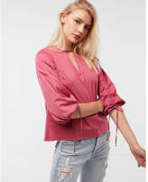 Express tie-sleeve blouse