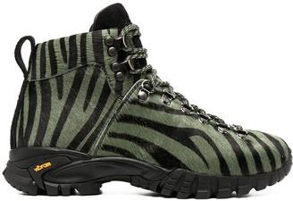 Diemme Zebra-Print Hiker Boots