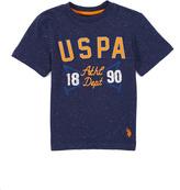 U.S. Polo Assn. Navy Fleck 'USPA' Crewneck Tee - Boys