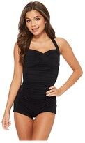 Seafolly Boyleg Maillot (Black) Women's Swimsuits One Piece