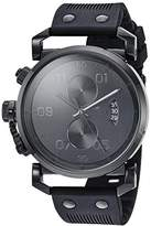Vestal 'USS Observer Chrono' Quartz Stainless Steel and Polyurethane Casual Watch, Color:Black (Model: OBCS014)