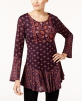 Style&Co. Style & Co Style & Co Petite Mixed-Print Tunic, Created for Macy's