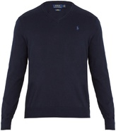 Polo Ralph Lauren V-neck logo-embroidered cotton sweater