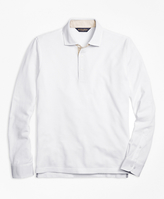 Brooks Brothers Vintage-Wash Long-Sleeve Polo Shirt