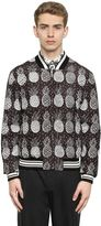 Dolce & Gabbana Pineapple Printed Nylon Bomber Jacket