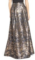 Eliza J Metallic Floral High Waist Ball Skirt