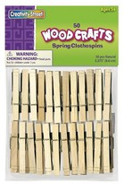 Creativity Street® Wood Spring Clothespins, 3 3/8 Length - 50 Per Pack
