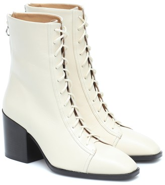 AEYDĒ Lotta leather ankle boots