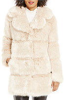 Kate Spade Faux-Fur Notch Collar Back-Bow Coat
