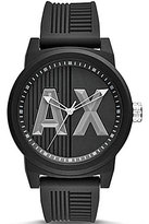 Armani Exchange ATLC Analog Silicone-Strap Watch