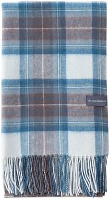 The Tartan Blanket Co. Lambswool Oversized Scarf In Stewart Muted Blue Tartan