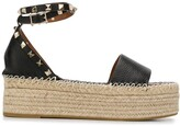 Valentino Gravani Rockstud espadrille flatform sandals