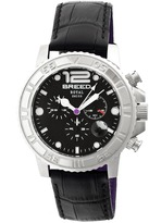 Breed Von Marcus Collection BRD6702 Men's Stainless Steel Watch with Leather Strap