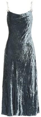 Miu Miu Embellished velvet midi dress