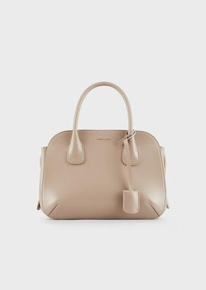 Giorgio Armani Large, Palmellato Leather La Prima Tote Bag