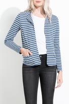 THML Clothing Striped Knit Blazer