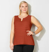 Avenue Pleated Knit to Woven Bar Tank