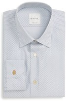 Paul Smith Men's Moon Jacquard Trim Fit Dress Shirt