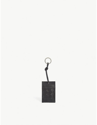 Bottega Veneta Intrecciato leather card case keyring