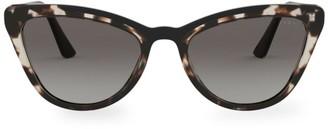 Prada Tortoiseshell 56MM Cat Eye Sunglasses