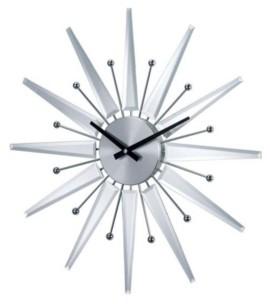 Stilnovo George Nelson Mirrored Starburst Clock